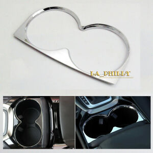 Chrome Interior Cup Holder Cover Trim For Ford Fusion Mondeo 2013 2014 2015