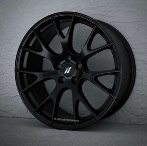 Dodge Hellcat Satin Matte Black Wheels Rims 20x9 Set Challenger Charger 300c