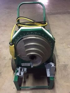 Greenlee 555 Deluxe Conduit Pipe Bender 2 Rigid Shoes 2 Rollers 1 2 2 Imc Emt