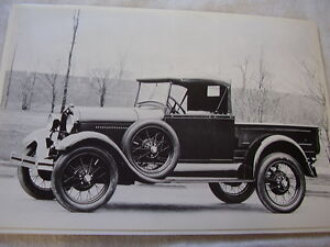 1928 1929 Ford Roadster Pickup 12 X 18 Large Picture Photo