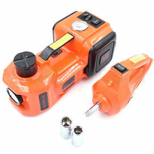 Electric Hydraulic Car Jack Set With Air Pump Impact Wrench 12v Dc 3 5t Auto Suv