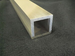 3 Aluminum Square Tube 1 4 Wall X 36 Long 6061 Square Tube Mill Finish