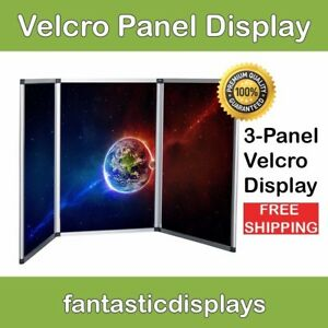 3 Panel Table Top Trade Show Display Velcro Exhibitor Presentation Board