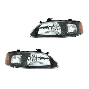 Fits 02 03 Nissan Sentra Se R Spec V Left Right Headlight Lamp Assembly 1 Pair