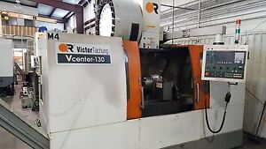 2007 Victor Vcenter 130 4 axis Cnc Vertical Machining Center Fanuc Oimc