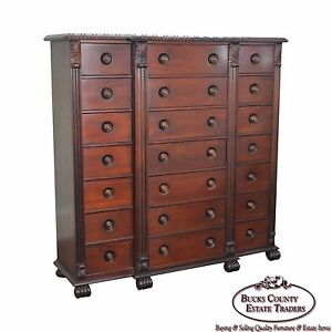 Polo Ralph Lauren Mahogany Multi Drawer Empire Style Gentlemans Chest B