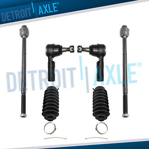 Inner Outer Tie Rod End Link Set Steering 2006 2012 Dodge Ram 1500 5 lug Only