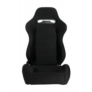 Cipher Auto Racing Seats W Black Cloth Grey Outer Stitching