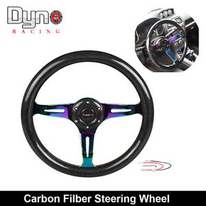 Ryanstar Modified Steering Wheel Automobile Race Steering Wheel Neo Chrome 350mm