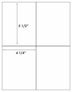 A4 White Self Adhesive Stickers Paper Labels Sheets Printer Inkjet 4 25 X 5 5
