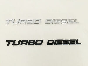 Turbo Diesel Black Chrome 3d Emblem Badge Letters Number Truck Car Hood Trunk