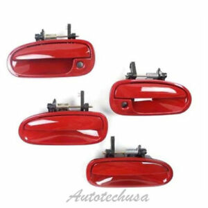 1996 2000 For Honda Civic Set Of 4 R81 Milano Red Outside Door Handle Ds274