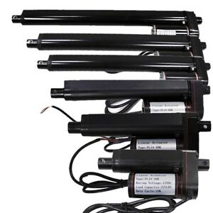 2 12 Inch Black Linear Actuator Stroke 225 Pound Max Lift Output 12v Volt Dc