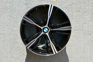 Set Of 4 Wheels 18 Inch Black Machined Rims Fits 5x120 Et30 Cb72 56