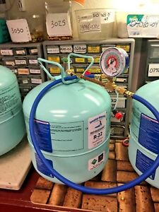 R22 Refrigerant Disposable Cylinder 5 Lb Check Charge It Kit With 36 Hose