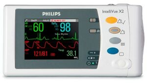 Philips Intellivue X2 M3002a Ecg Spo2 St Networking More Sn De03775039