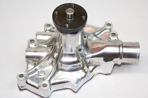 Ford 5 0l Reverse Rotation High Performance Aluminum Water Pump Polished 8845