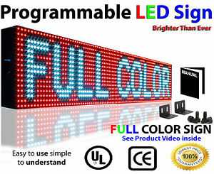 Led Video Sign 6 x38 Full Color indoor Programmable Scrolling Message Board