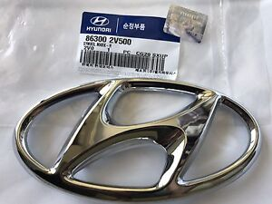 Front Grille Emblem Veloster Turbo 2013 2017 Genuine Hyundai H Mark Nameplate