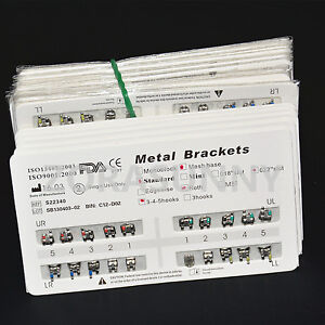 20packs Dental Orthodontic Metal Brackets Braces Standard Roth 022 Hooks 345