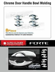 Door Handle Chrome Bowl Cover C318 For Kia Cerato Forte Sedan 2010 2011 2012