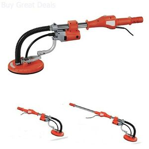 Electric Variable Speed Drywall Vacuum Sander Telescopic Handle Hose Heavy Duty