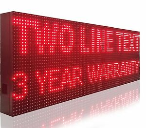 25 x25 Digital Programmable Led Sign 10mm Red Scrolling Text Logo Open Display