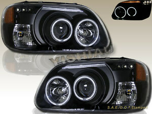 1995 2001 Ford Explorer Dual Ccfl Halo Led Projector Headlights Black