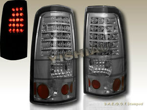 2003 2006 Chevy Silverado 2004 2006 Gmc Sierra 1500 2500 Smoke Tail Lights Led