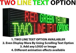 Led Signs 6 X 63 Outdoor Progrmmable Tri Color Scrolling Text Neon Open Board
