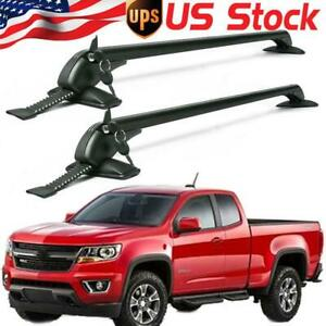 Universal Car Truck Pickup Roof Rack Rails Cross Bar Aluminum Carrier Door Clamp