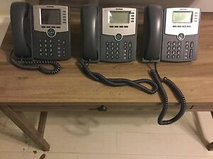 Cisco Ip Phone System 5 Phones 3 Headsets slightly Used
