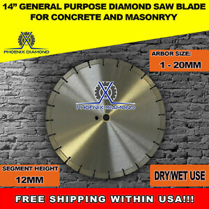 14 inch General Purpose 12mm Segmented Diamond Saw Blade For Concrete
