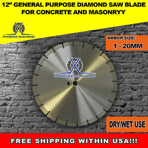 12 inch General Purpose Laser Welded Diamond Saw Blade For Concrete Masonry
