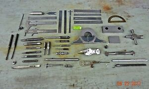 Lot Machinist Tool Lathe Mill Machinist Gages Level Edge Finders Ruler Punches