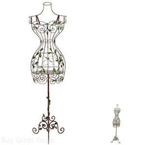 Display Clothing Metal Dress Mannequin Female Wire Stand Decor Vintage Look Body
