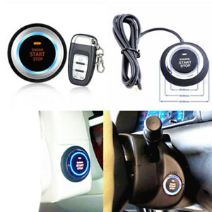 One Key Remote Start lock Vibration Alarm Remote Control Security System For Car