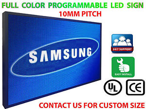 15 x38 Programmable Led Sign Full Color Indoor Text Bar High Res P10 Mm Display