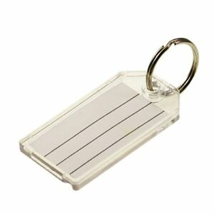 Lucky Line Extra Strength Key Tag With Split Ring 100 Per Box Clear 20400