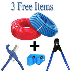 2 Rolls 1 2 X 300 Feet Red blue Pex Tubing For Potable Water Nonbarrier 3 Free