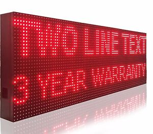 15 X 101 Bright Led Signs Outdoor 10mm Programmable Red Moving Text Display