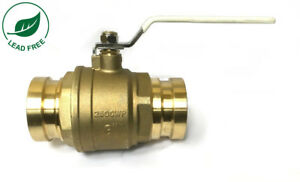 3 Full Port Brass Press Shut off Ball Valve Lead Free 250psi Wog