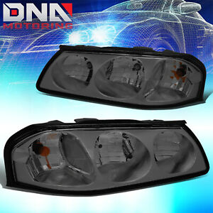 For Chevy Impala 2000 2005 Ls ss Smoked Housing Clear Corner Signal Headlights