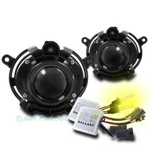 Bumper Projector Fog Light Lamp W 3k Hid Kit For 08 12 Cadillac Cts Chevy Malibu