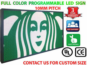 16m Color 27 x52 10mm Wifi Outdoor Business Video Image Electronic Led Sign