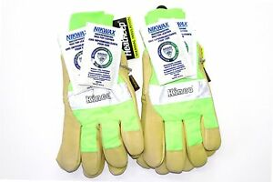 Kinco 1939kw 2 pack Work Gloves High Visibility With Nikwax Waterproofing
