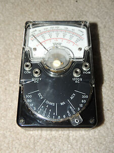 Vintage Tripplett 310 Analog Voltmeter In Case