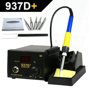 937d Soldering Welding Station Hot Iron Smd Tool W 5 Tips Janpan Heater
