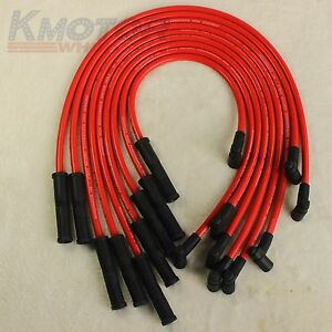New Hei Spark Plug Wires Set 90 To Straight For Chevy Sbc Bbc 400 454 350 383 V8