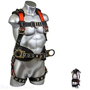 Construction Safety Belts Harness Roof Trees Tools D Rings Legs Straps Padded